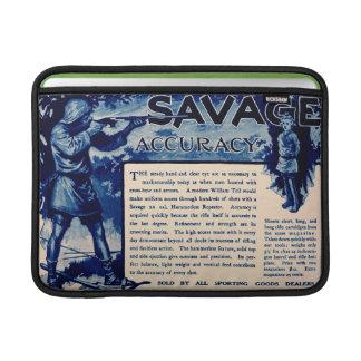 Vintage Savage Firearms Blue Ad Macbook Air Sleeve
