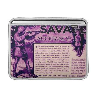 Vintage Savage Firearms Purple Macbook Air Sleeve