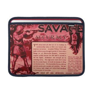 Vintage Savage Firearms Red Ad Macbook Air Sleeve
