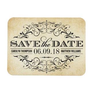 Vintage Save the Date | Elegant Flourish Magnet
