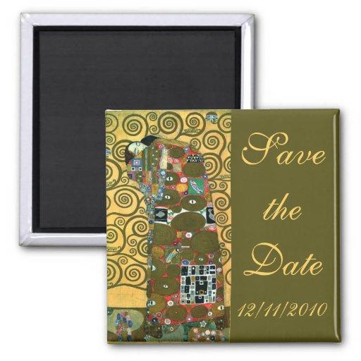 Vintage Save the Date, Fulfillment by Klimt Fridge Magnet