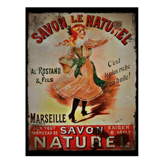 Vintage Savon Naturel Postcard