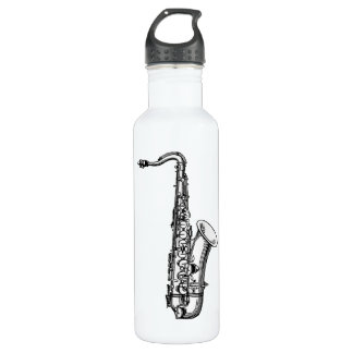 Vintage Saxaphone 710 Ml Water Bottle