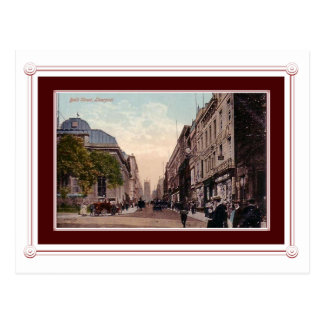 Vintage scene of Liverpool, England Postcard