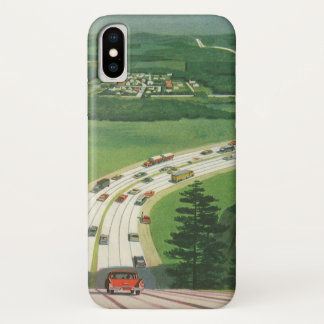 Vintage Scenic American Highways, Cars Road Trip Case-Mate iPhone Case
