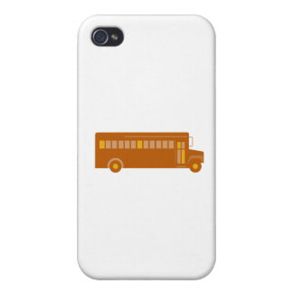 Vintage School Bus Side Retro Cover For iPhone 4