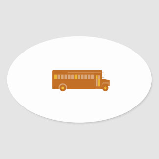 Vintage School Bus Side Retro Oval Sticker