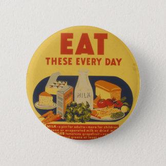 Vintage School Days Milk Poster 2 Inch Round Button