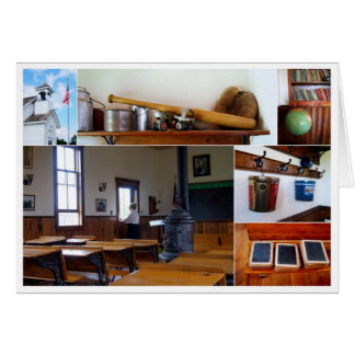 Vintage School House Collage Card