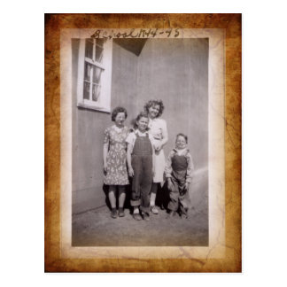 Vintage School Photo Postcard
