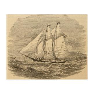 Vintage Schooner Print