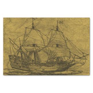 Vintage Schooner Tissue Paper