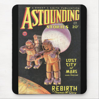 Vintage Sci Fi Comic Astounding Stories 1934 Mouse Pad