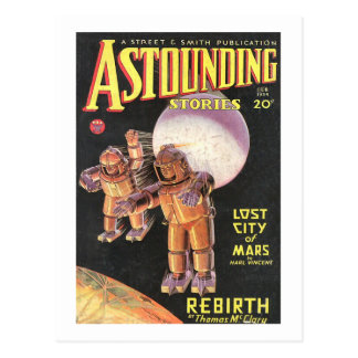 Vintage Sci Fi Comic Astounding Stories 1934 Retro Post Cards