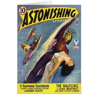 Vintage Sci-Fi Comic - The Halfling Card