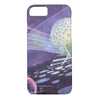 Vintage Science Fiction, a Glowing Orb with Aliens iPhone 7 Case