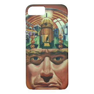 Vintage Science Fiction, Alien Brain in Laboratory iPhone 7 Case