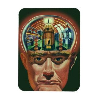 Vintage Science Fiction, Alien Brain in Laboratory Rectangular Photo Magnet