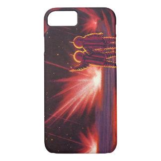Vintage Science Fiction Alien Red Planet Explosion iPhone 7 Case