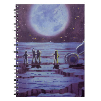Vintage Science Fiction Aliens and Moon Rover Notebook