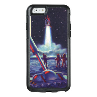 Vintage Science Fiction Aliens Wave to Rocket OtterBox iPhone 6/6s Case