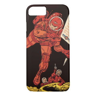Vintage Science Fiction, Astronaut Moon Landing iPhone 7 Case