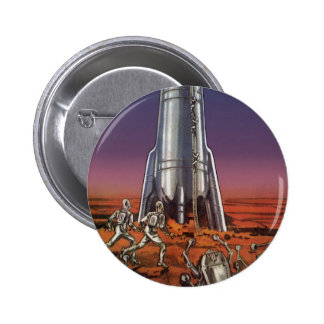 Vintage Science Fiction, Astronauts Beetle Aliens 2 Inch Round Button