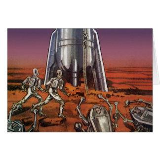 Vintage Science Fiction, Astronauts Beetle Aliens Card