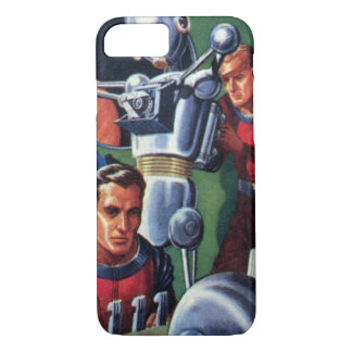 Vintage Science Fiction Astronauts Fixing a Robot iPhone 7 Case
