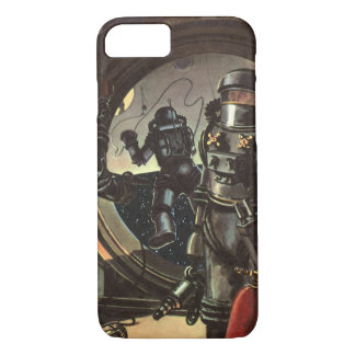 Vintage Science Fiction Astronauts on a Space Walk iPhone 7 Case