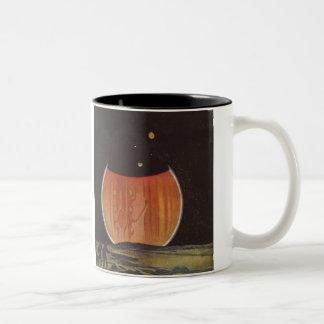 Vintage Science Fiction, Astronauts on Ganymede Two-Tone Coffee Mug