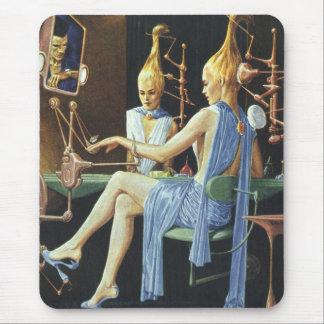 Vintage Science Fiction Beauty Salon Spa Manicures Mouse Pad