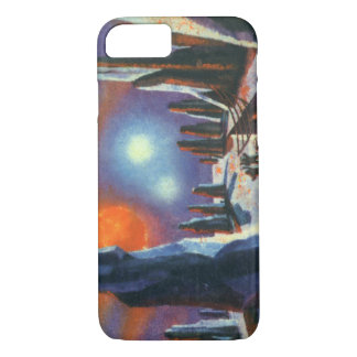 Vintage Science Fiction Foreign Planet with Aliens iPhone 7 Case