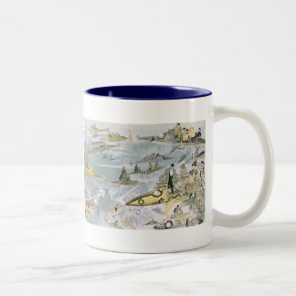 Vintage Science Fiction Futuristic Cars, Taxi Cabs Mugs