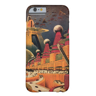 Vintage Science Fiction Futuristic City Flying Car Barely There iPhone 6 Case