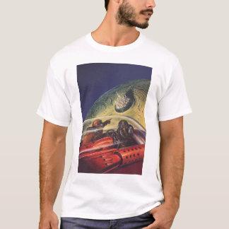 Vintage Science Fiction, Futuristic City on Moon T-Shirt