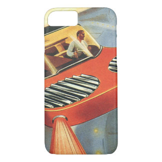 Vintage Science Fiction Futuristic Flying Car iPhone 7 Case