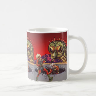 Vintage Science Fiction Giant Centipede Insect War Coffee Mug