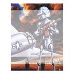 Vintage Science Fiction; Military Robot Soldiers Custom Letterhead