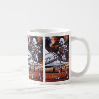 Vintage Science Fiction Military Robot Soldiers Mug