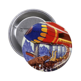 Vintage Science Fiction, Noah's Ark Wild Animals 2 Inch Round Button