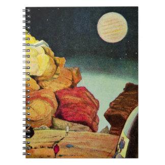 Vintage Science Fiction Quarry Planet Travelers Spiral Notebook