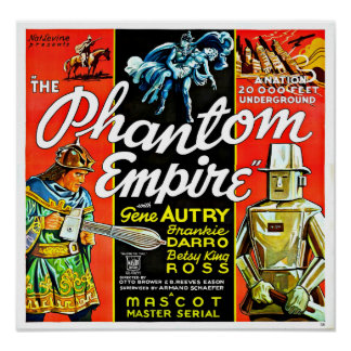 Vintage Science Fiction Robot Phantom Empire Poster