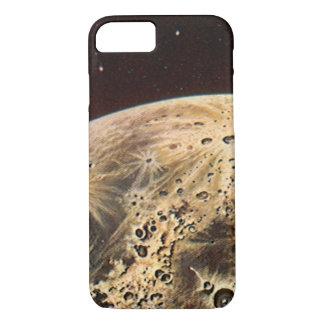 Vintage Science Fiction, Rocket Ship Over the Moon iPhone 7 Case