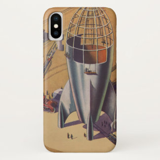 Vintage Science Fiction, Sci Fi, Building a Rocket iPhone X Case