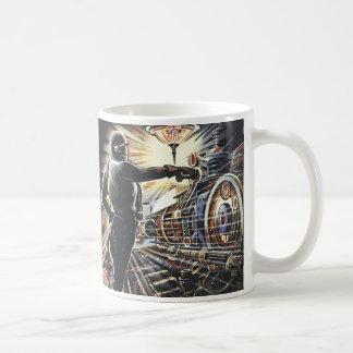 Vintage Science Fiction Sci Fi Futuristic Machines Coffee Mug