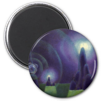 Vintage Science Fiction, Sci Fi Outer Space Planet 2 Inch Round Magnet