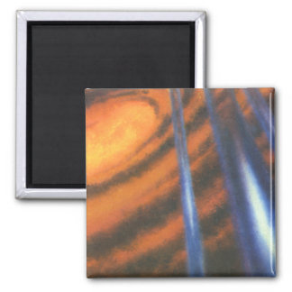 Vintage Science Fiction, Sci Fi Red Galaxy Swirls Square Magnet