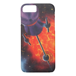 Vintage Science Fiction, Sci Fi Rocket, Red Planet iPhone 7 Case