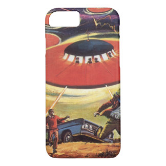Vintage Science Fiction, Sci Fi UFO Alien Invasion iPhone 8/7 Case